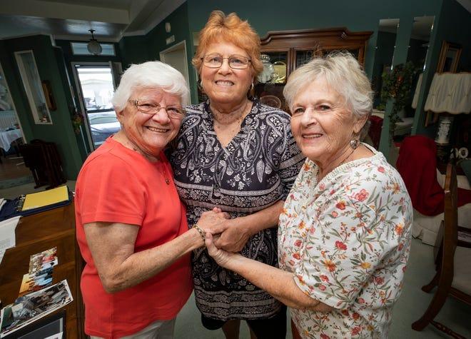 Judie Randall ,Linda Clark and Sharon Koller met at Randall's home in Winter Haven.
