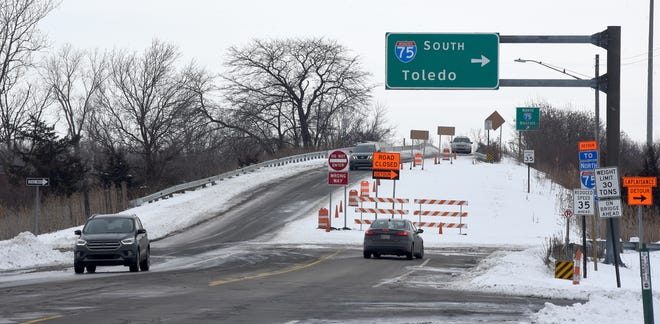 The LaPlaisance Road bridge over I-75 and Exit 11's interchange will be reconfigured by the Michigan Department of Transportation. [MONROE NEWS PHOTO BY TOM HAWLEY]