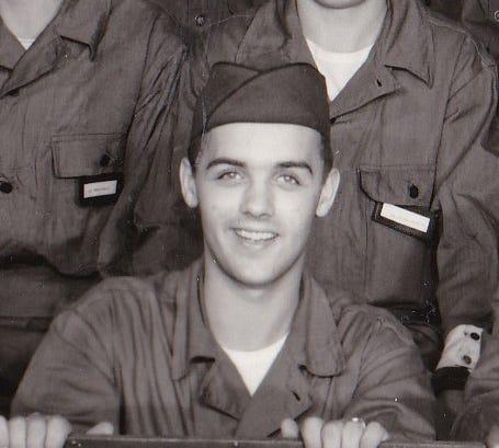 John Eastman II at Air Force basic training in 1955.