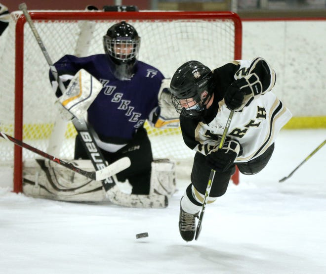 Justin McCarthy and the North Kingstown boys hockey team will try to fly past Cranston West in this weekend's Division II Championship Series, which starts Friday night in Cranston.