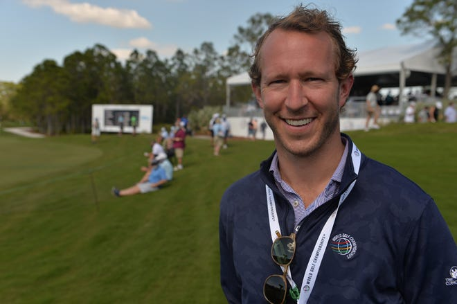 Dr. Stephen Otte, an orthopedic surgeon with Coastal Orthopedics of Bradenton, is acting as the on-site physician for the tournament.  He was watching the action from the 18th green during the first round of the World Golf Championships-Workday Championship at The Concession in Bradenton.