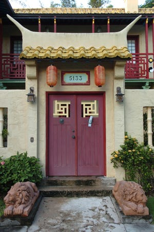 George Merrick's plan for Coral Gables called for 17 themed residential villages with architecture from around the world. The villages contain some of the most sought-after real estate in Coral Gables. This is the Chinese Village.