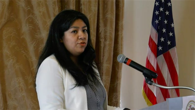 Angelica Guerrero-Cuellar, a 30-year resident of Chicago's southwest side, is the first Latina to represent the 22nd House District. She was sworn in on Thursday after being voted in by the Democratic officials in the district.