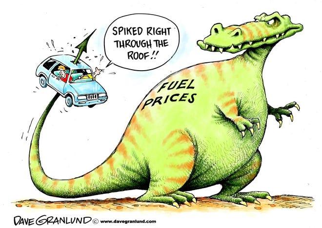 Granlund cartoon: Fuel through the roof