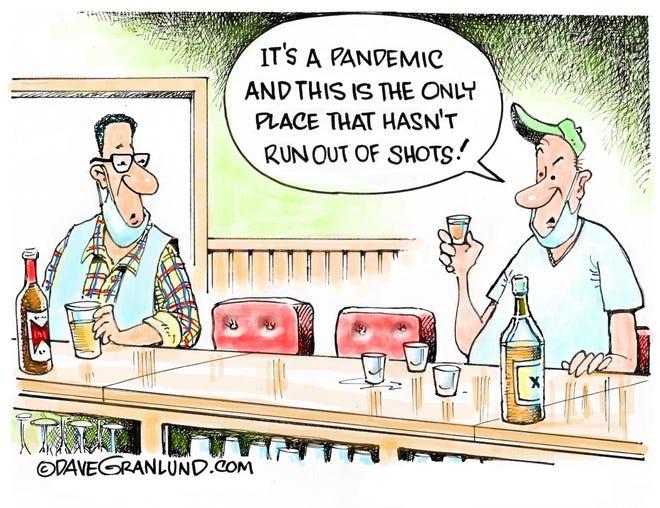 Granlund cartoon: Pandemic shots