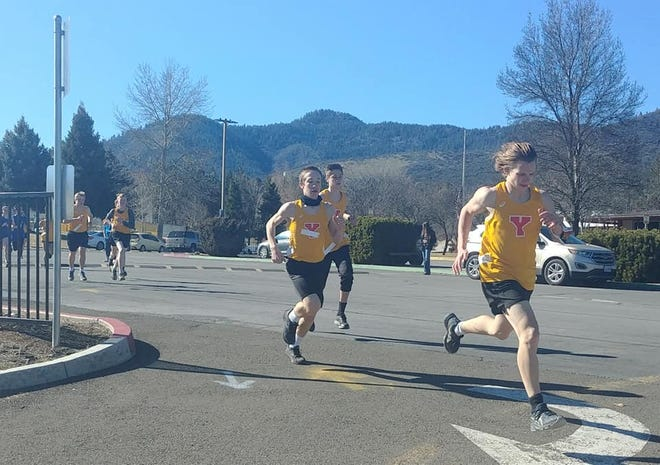 The Yreka High junior varsity boys compete versus Anderson at home on Friday.