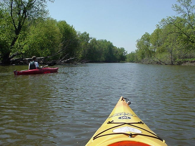 Canoeing the Rock River prior to last year's floods