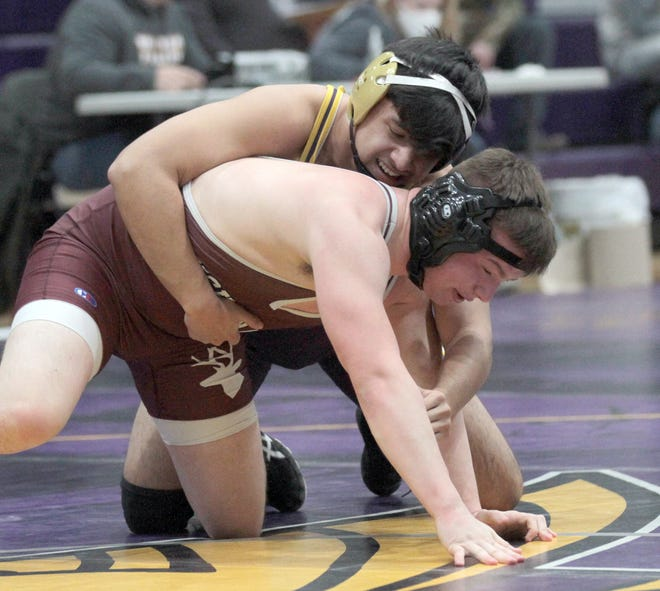 J.C. DePaz of Bronson won both of his matches on Wednesday evening.
