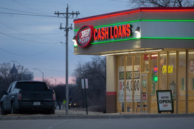 Speedy Cash at 1729 N.W. Topeka Blvd. provides title loans and lines of credit. The franchise opposes the payday reform bill in the Kansas Legislature.