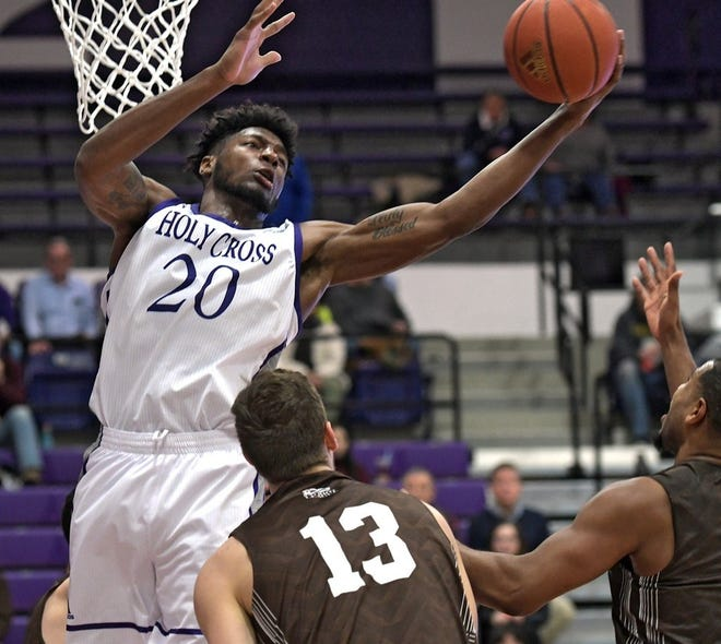 Former Holy Cross basketball star Jehyve Floyd was a two-time Patriot League Defensive Player of the Year.