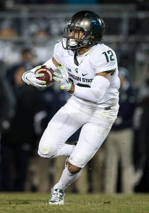 Michigan State Spartans wide receiver R.J. Shelton during a game in 2016.