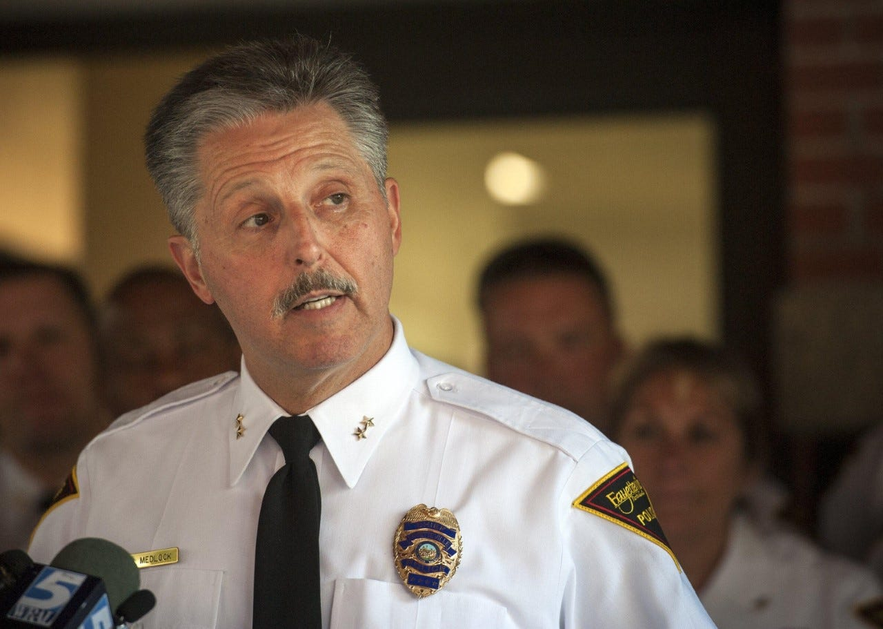 In 2013, Fayetteville Police Chief Harold Medlock implemented a policy for traffic stops that increased police stops for dangerous moving violations like speeding while decreasing the number of non-moving violation stops, and ceasing stops altogether for 'investigative' reasons. The result was a city with fewer traffic fatalities — and fewer intrusive vehicle searches against Black drivers.