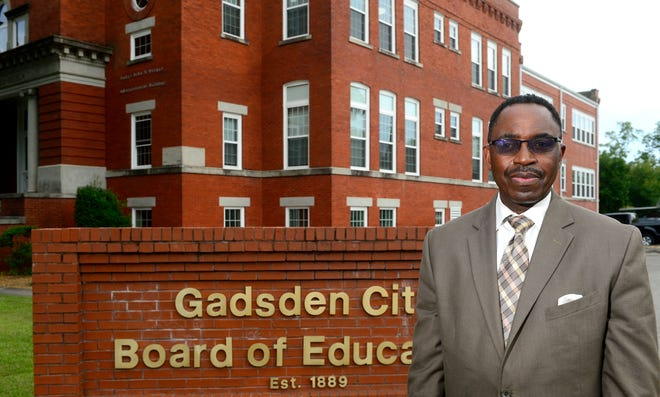 Tony Reddick, superintendent of Gadsden City Schools, is shown in a file photo outside the Board of Education office.
