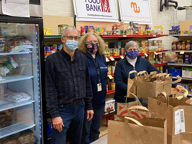 Thank you to Rotary Members Steve Breman, Trish Kelley and Sharon Sharpe for volunteering at the Natick food pantry. The Rotary has been a supporter of NSC from the very beginning, and volunteers come every other week to help with the food pantry.