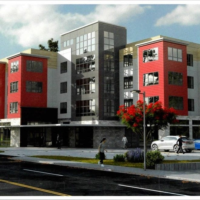 A new three-and-a-half story apartment and retail complex will be constructed on the site of the former Colonial Bowl on Route 18. The development is allowed under a Weymouth zoning overlay district provision that was created in 2018 by Town Council and Mayor Robert Hedlund.