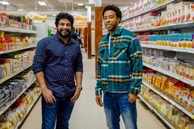 Special guest chef Meherwan and Host Ludacris at Cherian's Market in Luda Can't Cook, Special 1.