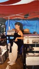 "Miura Kite on the set of the 1998 film ""Beloved."""