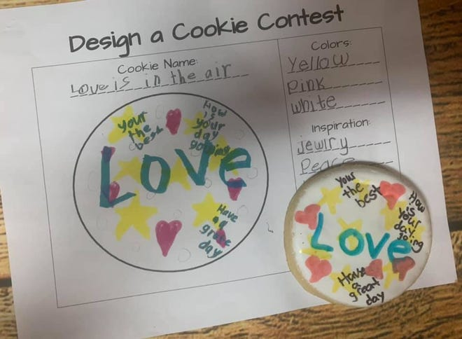 Second-graders at Episcopal School of Acadiana in Lafayette were tasked with designing cookies and persuading a bakery to make them with an essay. Cookie Mama, a home bakery in Youngsville, brought their designs to life as a surprise treat for the students.