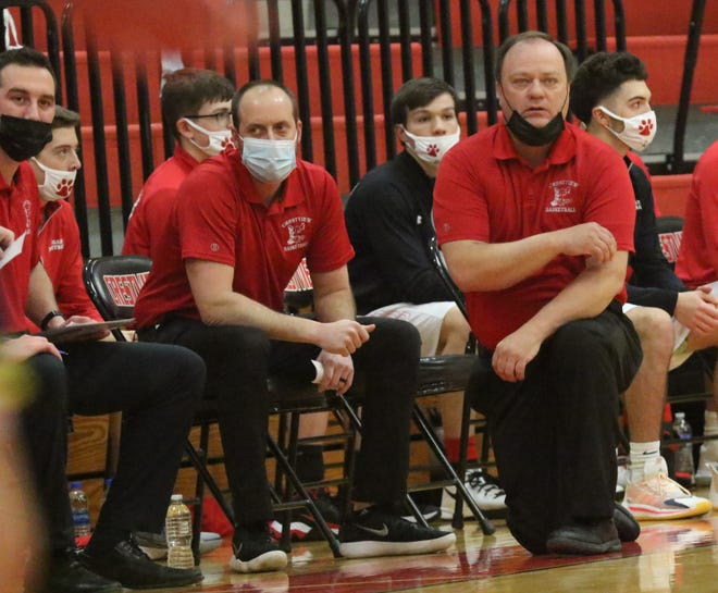 Crestview coach John Kurtz earned his 350th career win during the Cougars' 64-57 win over Woodmore on Wednesday night.