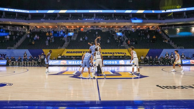 Marquette allowed family members to attend the game against Creighton on Feb. 6 at Fiserv Forum.