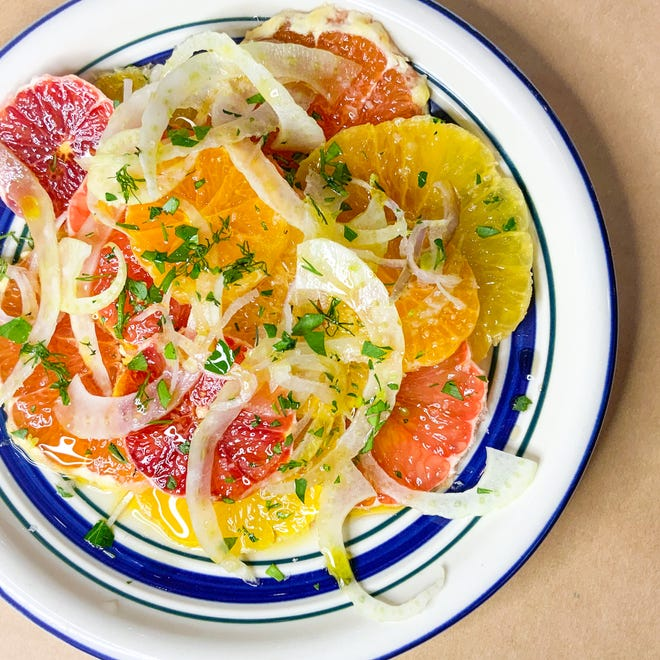 Fennel-citrus salad will be among the items served with European small-plates restaurant Mina pops up at Dubbel Dutch Hotel, 817 N. Marshall St., in March.