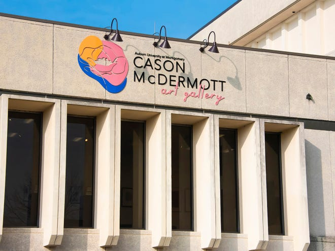 A new illuminated sign directs visitors to The Cason McDermott Art Gallery at AUM.