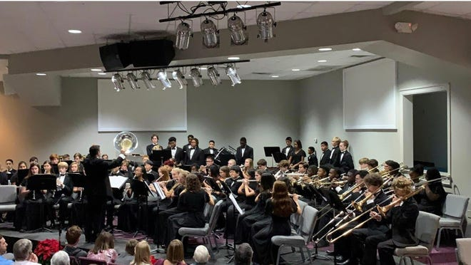 The Pike Road High School and Junior High School bands will play on March 11 at St. James United Methodist Church. The 7 p.m. performance in the church's worship center will be recorded and submitted for judging as part of a state band assessment.