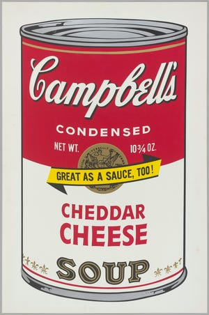 Andy Warhol, American (1928-1987), Campbell's Soup II: Cheddar Cheese (II.63), 1969, screenprint. © The Andy Warhol Foundation for the Visual Arts, Inc./Licensed by Artist Rights Society (ARS), New York