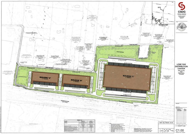 The master plan for the Lannom property on Lone Oak Road in Wilson County.