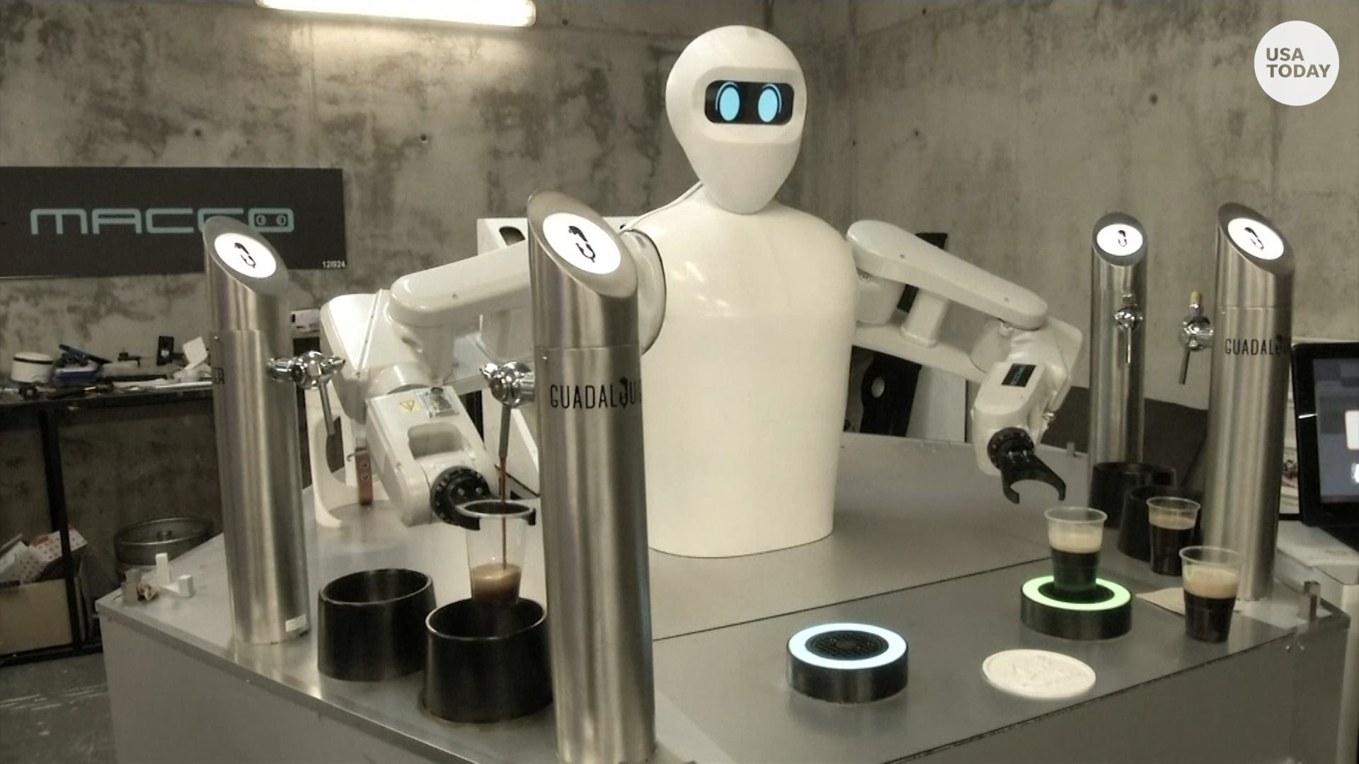 Robotic dogs serve beer to bar patrons in Spain to prevent spread of COVID-19