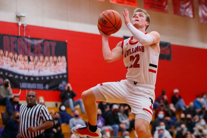 Bowie Bulldogs senior Coleton Benson hit eight 3-pointers and scored 38 points as Bowie outlasted Converse Judson 84-75 in a Class 6A second-round playoff game Thursday at Lehman High School.