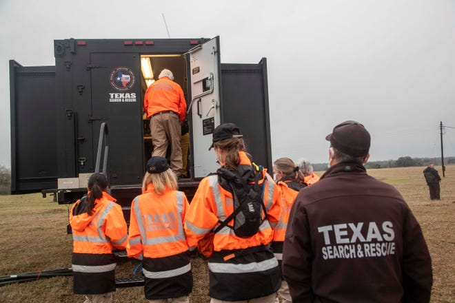 More than 100 trained volunteers from Texas Search and Rescue started a three-day search for Jason Landry in Luling on Feb. 26. Landry was last seen on Dec. 13, 2020.