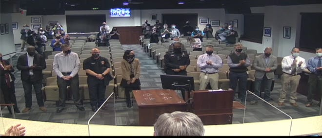 The Round Rock City Council on Thursday night praised city department heads and their stafffor stepping up in the community's time of need afterlast week's historic winter stormduring thepandemic.