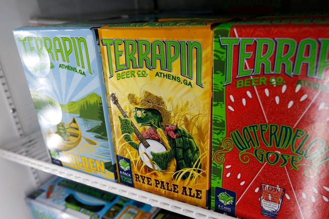 Terrapin Rye Pale Ale at the Terrapin brewery on Newton Bridge Road in Athens , Ga., on Friday, Feb. 26, 2021.