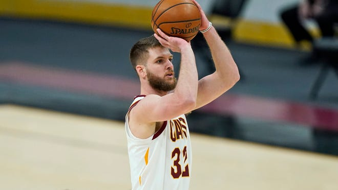 Cavaliers forward Dean Wade has gone from a little-used reserve earlier this season into the starting lineup recently. [Tony Dejak/Associated Press]