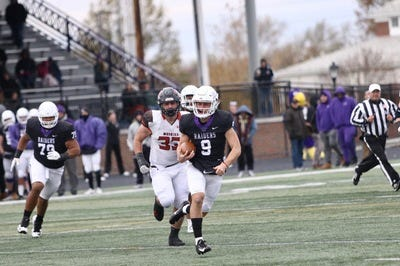 Braxton Plunk (9) is expected to be the starting quarterback for Mount Union. He passed for almost 1,000 yards last season as a back-up.