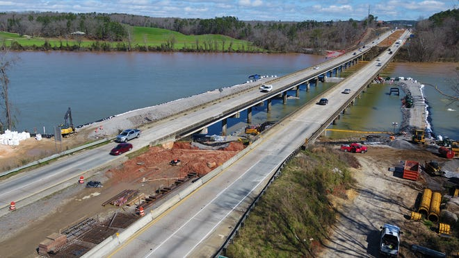 Work on the I-20 bridge replacement and widening project continued throughout the COVID pandemic. The bridge is expected to be completed by summer 2022.