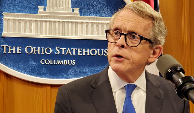 Ohio Gov. Mike DeWine urged people age 65 and older to get the coronavirus vaccine as more cases involving variants of the virus are detected statewide.