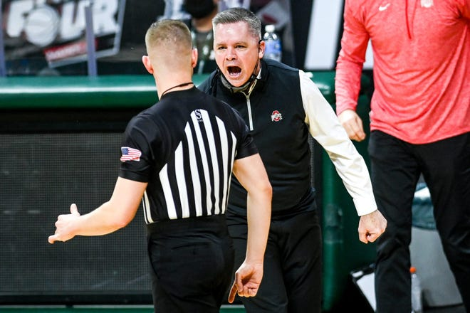 Ohio State coach Chris Holtmann was ejected from Thursday's loss at Michigan State for accruing two technical fouls, but there is still plenty for him and others to like about this Buckeyes team.