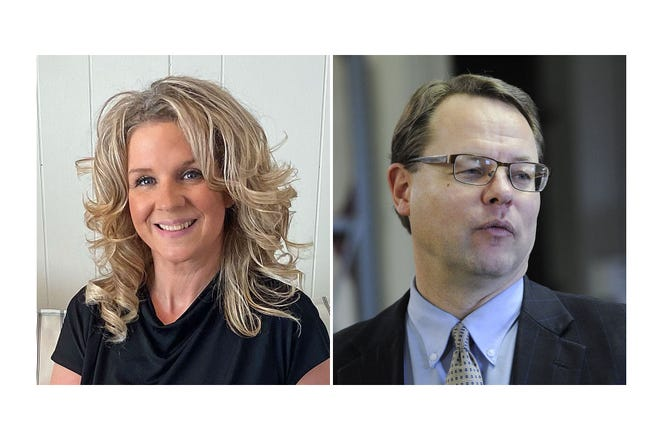 Aubrea Hagerty-Haynes, at left, first deputy clerk of courts for Erie County, is running for the seat currently held by Erie County Clerk of Records Ken Gamble, at right, who is not seeking reelection.