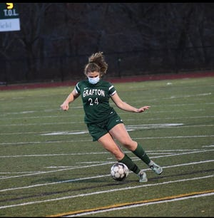 Julia Koshivos plays soccer, outdoor track and indoor track for Grafton High School.