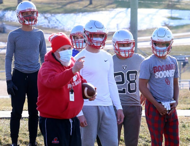 Hendersonville High's football players participate in the first official practice earlier this month at Hendersonville Middle School.