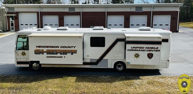The new mobile command vehicle for the Henderson County Sheriff's Office.