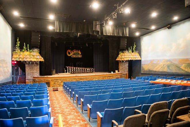 The theater in Cactus theater remained relatively unscathed during the water leak caused by last week's freezing weather on Wednesday, Feb. 24, 2021, in Lubbock, Texas. [Justin Rex/For A-J Media]