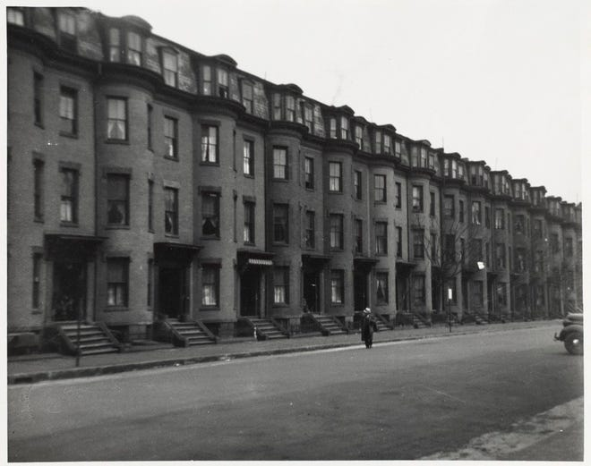 Here's what Chandler Street in the South End looked like in 1938.