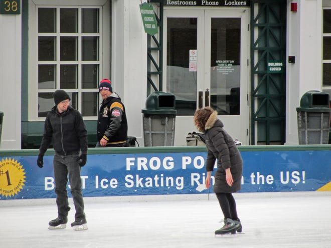 The Frog Pond in Boston Common is a great place to go skating during the winter months – except this year due to COVID-19. Hopefully skating can happen again next winter.