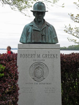 The Robert M. Greene Memorial can be found on Castle Island. Greene was a firefighter who died from multiple injuries after falling from a building on Alpha Road on Nov. 27, 1978. He served 14 years as a firefighter.