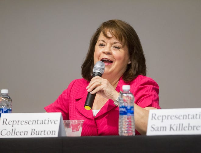 Representative Colleen Burton of Lakeland,the most experienced member of Polk's House delegation, entersher fourth and final term. She is chairwoman of the Health and Human Services Committee and serves on the Appropriations Committee.