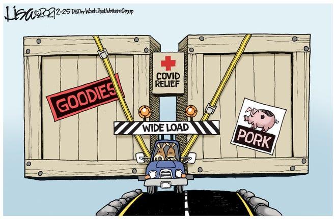 COVID relief cartoon