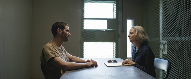 Mohamedou Slahi (Tahar Rahim) explains his dire circumstances to Nancy Hollander (Jodie Foster).